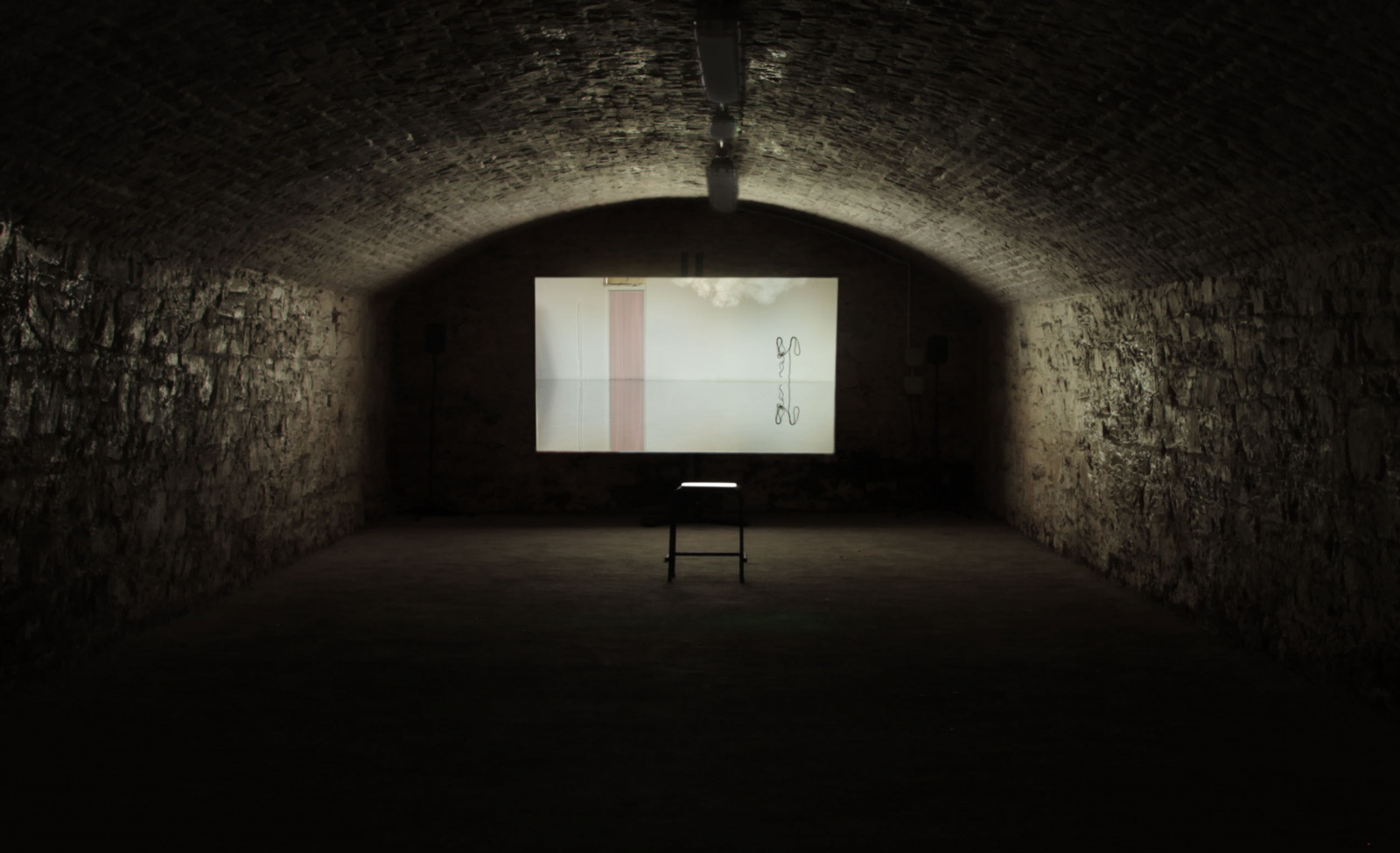Installation view in Cork Bonded Warehouses, as part of Sounds from a Safe Harbour, Cork, 2015